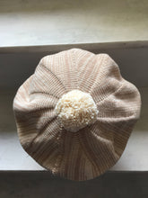 Load image into Gallery viewer, Beige Cotton Pompom Beret