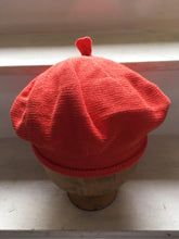 Load image into Gallery viewer, Orange Red Cotton French Style Beret