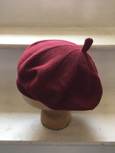 Maroon Cotton French Style Beret