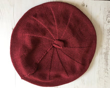 Load image into Gallery viewer, Maroon Cotton French Style Beret