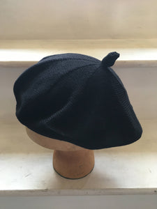 Black Cotton French Style Beret