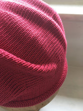 Load image into Gallery viewer, Raspberry Red Cotton Knitted French Style Beret