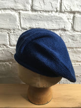 Load image into Gallery viewer, French Blue Alpaca Silk Knitted Beret