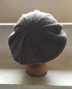 Grey Alpaca and Silk Mix Scottish Style Tam Beret
