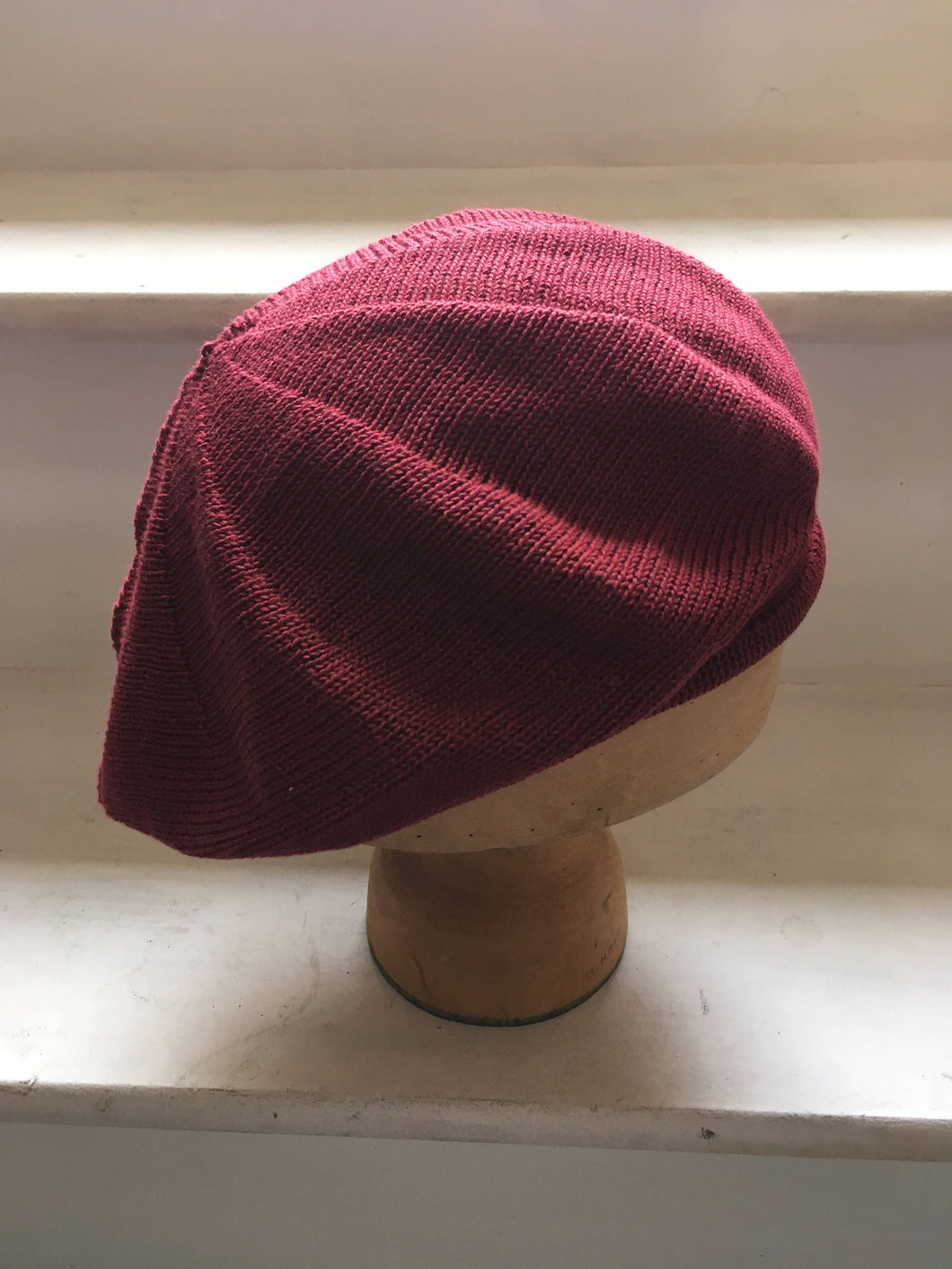 Maroon Cotton Knitted Unisex Tam by Lord and Taft