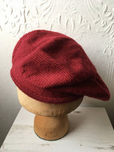 Load image into Gallery viewer, Maroon Alpaca Knit Beret Tam