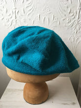 Load image into Gallery viewer, Turquoise Blue Alpaca Tam Style Beret