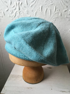 Light Aqua Alpaca Beret