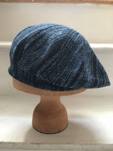Load image into Gallery viewer, Blue Denim Cotton Tam Style Beret