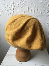 Load image into Gallery viewer, Mustard Yellow Alpaca tam Style Beret