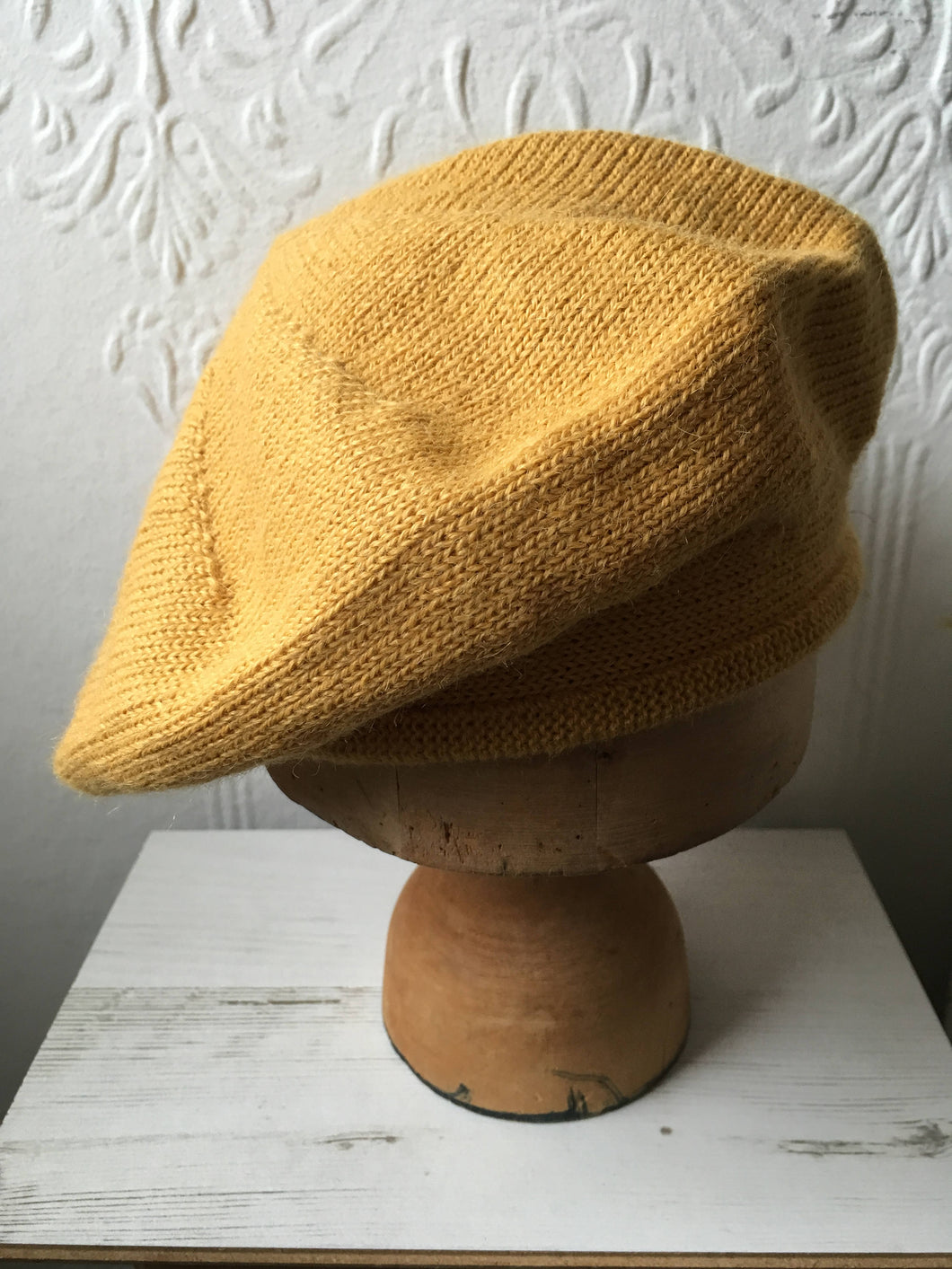 Lord and Taft Mustard Alpaca Knitted Scottish Tam Style Beret