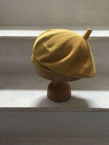 Yellow Cotton French Style Beret