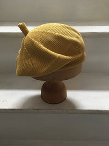 Lord and Taft Naples Yellow Knitted Cotton French Style Beret
