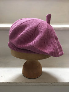 Pink Lilac Cotton French Style Beret