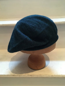 Lord and Taft Deep Teal Alpaca Knitted Tam Style Beret