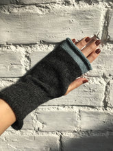 Load image into Gallery viewer, Charcoal Grey Fingerless Gloves