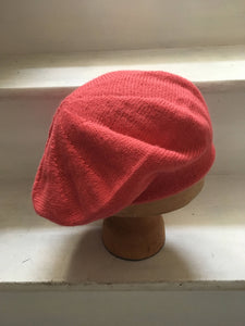 Coral Pink Knitted Alpaca Tam Hat by Lord and Taft