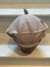 Load image into Gallery viewer, front view of Lord and Taft beige cotton knitted beret