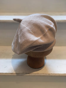 Beige Cotton Beret