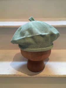 Mint Green Cotton French Style Beret