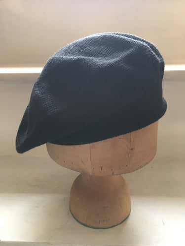 Lord and Taft Black Cotton Knitted Tam Style Beret