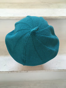 Teal Cotton French Style Beret