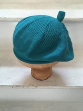 Load image into Gallery viewer, Teal Cotton French Style Beret