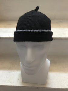 Black Alpaca Silk Mix Slouchy Beanie