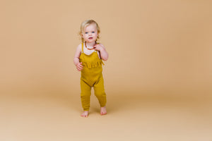 Frill Playsuit - Harvest Gold