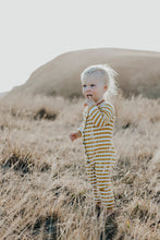 Load image into Gallery viewer, Ribbed Stripe Jumpsuit - Harvest Gold / Snow