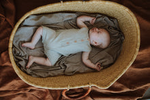 Load image into Gallery viewer, Mini Stripe Swaddle - Mushroom & Coconut