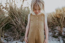 Load image into Gallery viewer, Linen Slub Yarn Romper - Harvest Gold