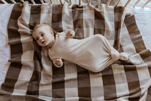 Load image into Gallery viewer, Gingham Baby Blanket - Earth and Clay