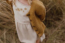 Load image into Gallery viewer, Ribbed Slub Yarn Cardigan - Harvest Gold