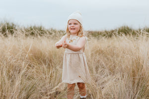 Flower Field Dress - Oatmeal