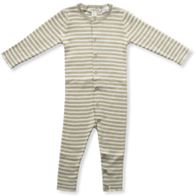 Load image into Gallery viewer, Ribbed Essential Jumpsuit - Olive + Milk