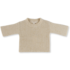 Speckle Rib Pull Over - Golden Speckle