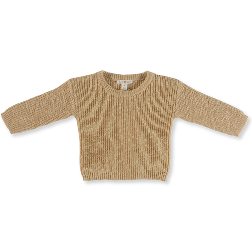 Chunky Rib Pull Over - Tan