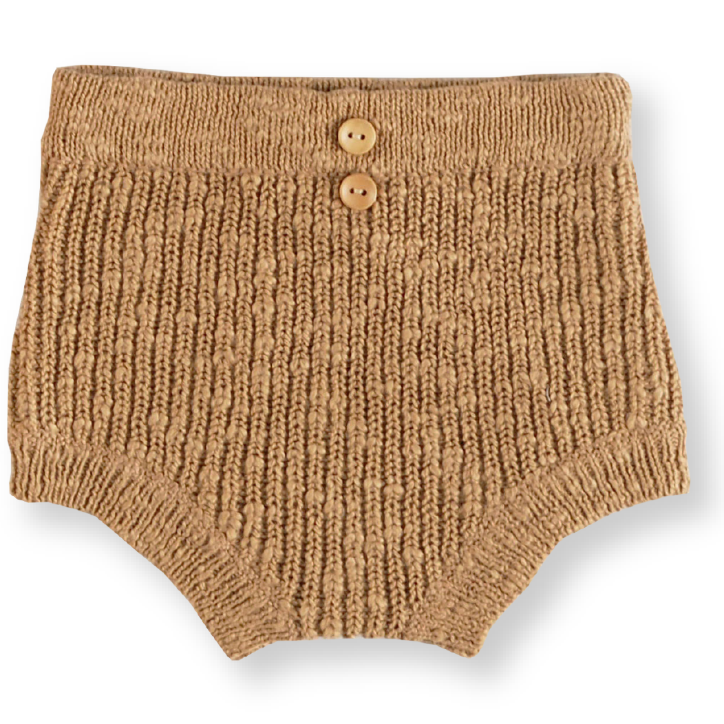 Chunky Rib Bloomers - Brown