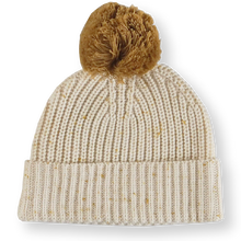 Load image into Gallery viewer, Speckle Ribbed Beanie - Golden Speckle