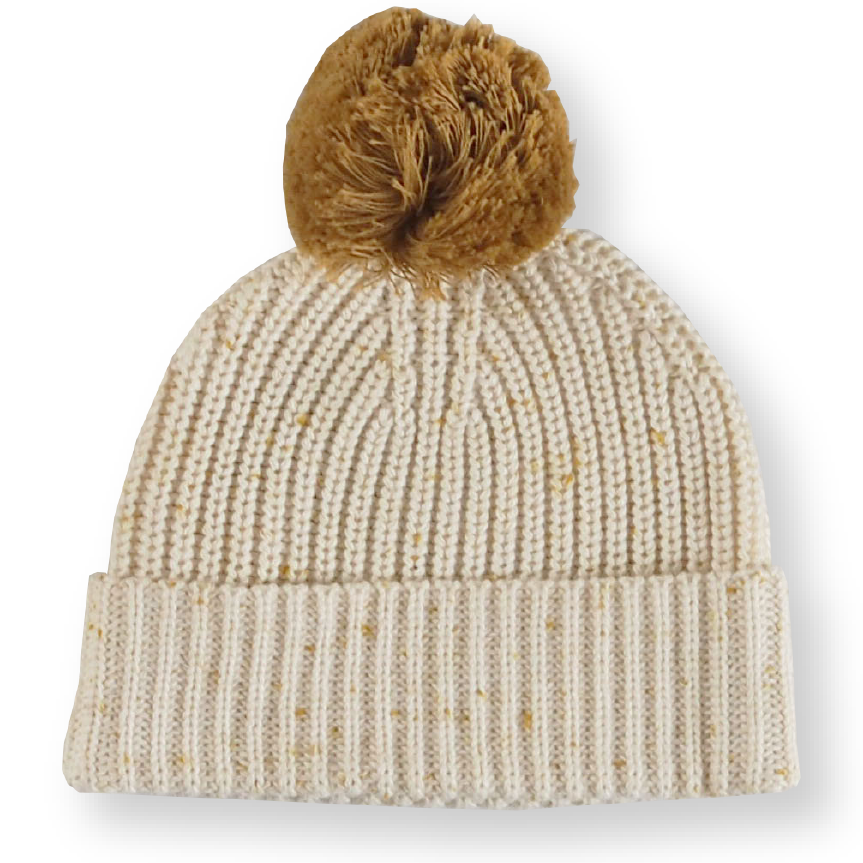 Speckle Ribbed Beanie - Golden Speckle