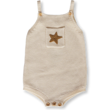 Load image into Gallery viewer, Pearl Knit Star Romper - Milk