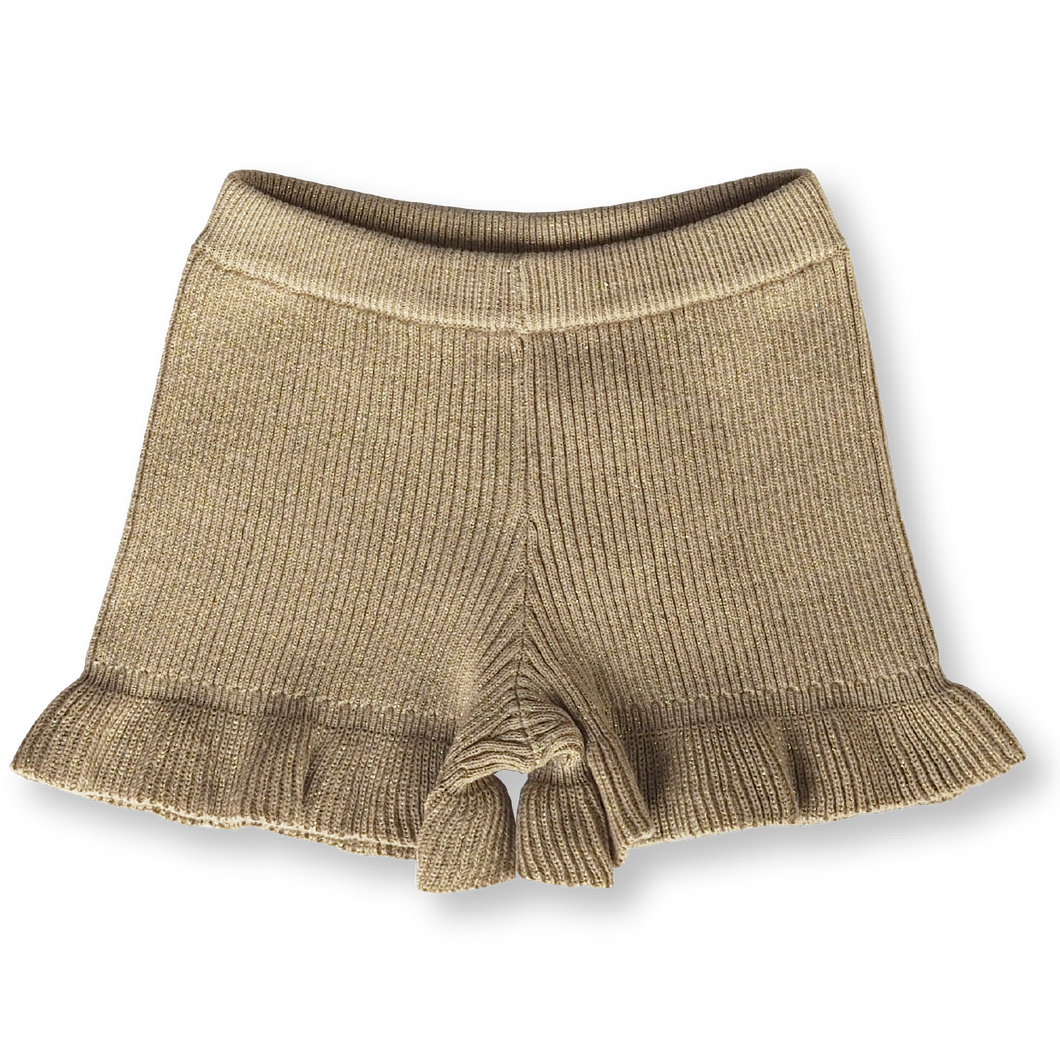 Ribbed Frill Shorts - Goldie