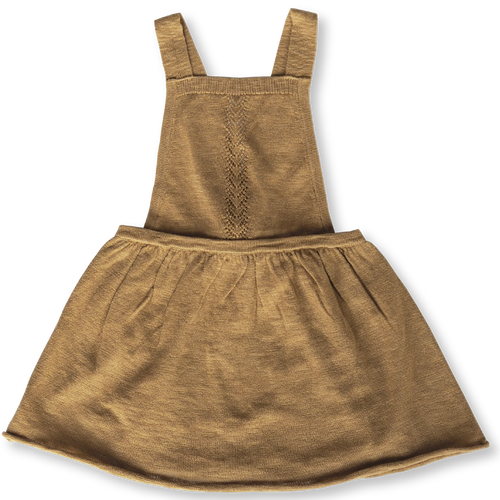 Slub Linen Dress - Harvest Gold