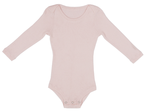 Ribbed Bodysuit - Blush