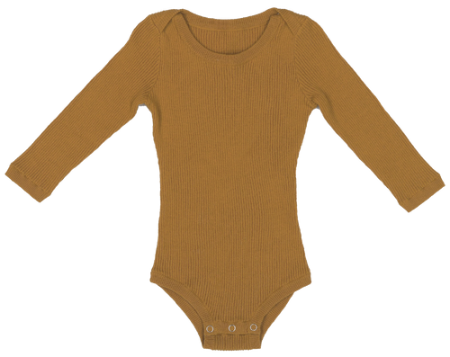 Ribbed Bodysuit - Harvest Gold