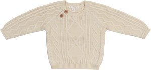 Cable Knit Pull Over - Milk