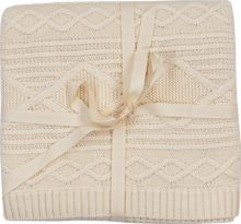 Load image into Gallery viewer, Cable Knit Baby Blanket - Milk