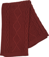 Load image into Gallery viewer, Cable Knit Baby Blanket - Ketchup
