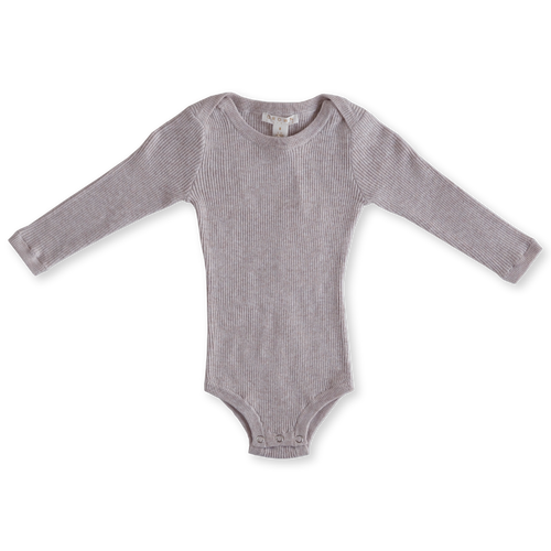 Ribbed Essential Bodysuit - Lilac Cloud